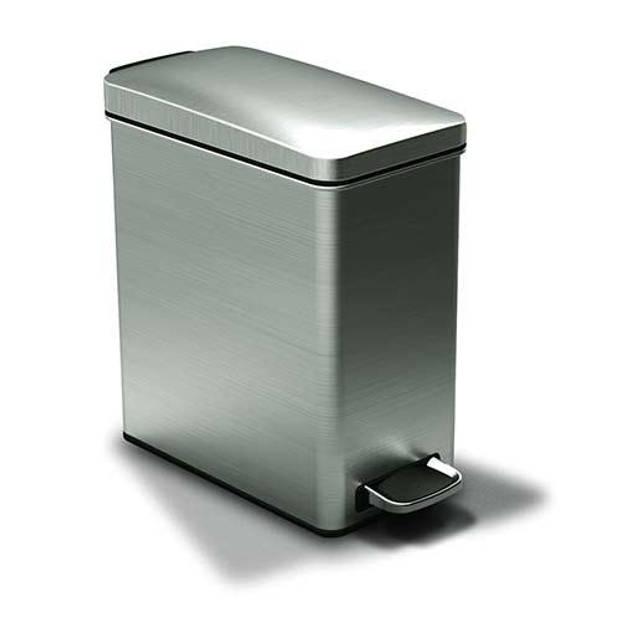 Afvalemmer Profile Brushed RVS, 10 liter - Simplehuman