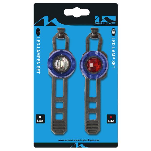 M-Wave Verlichtingsset Apollon Mini A LED Batterij Blauw