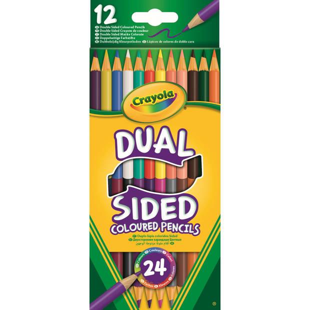 Crayola duo-kleurpotloden 12 stuks