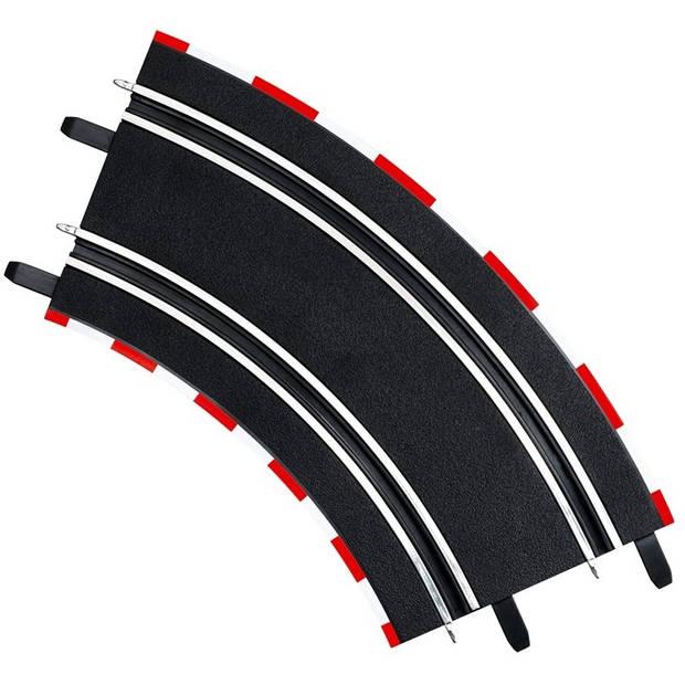 Carrera GO baanstukken 2/45 zwart 4 stuks