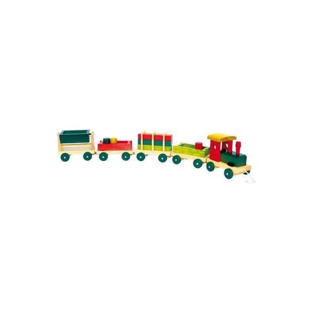 Small Foot houten trein Emiel 76 x 9 x 12 cm