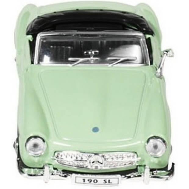 Welly METALEN MERCEDES-BENZ 190 SL (1955): GROEN