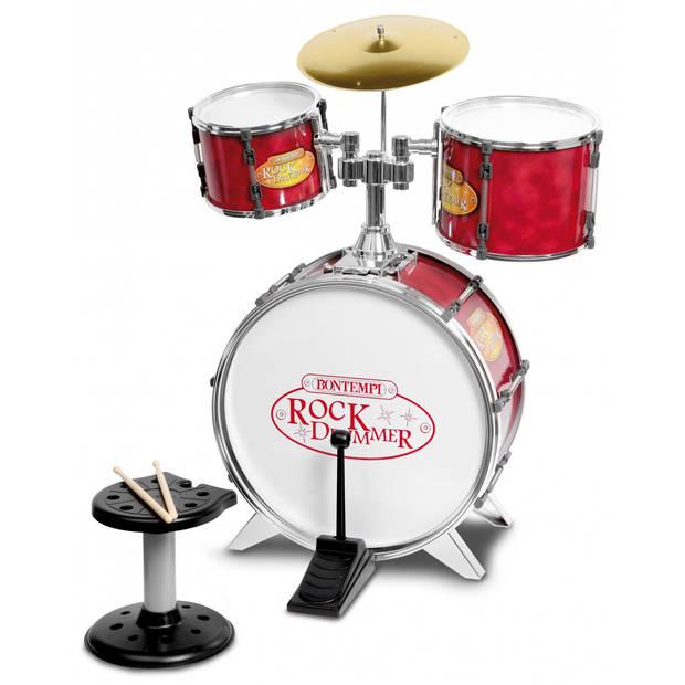 Bontempi Drumstel RockDrummer Rood 7-delig