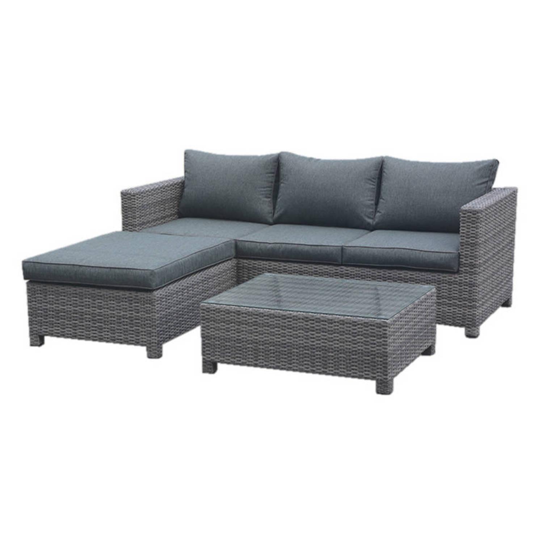 Garden impressions isabel loungeset donker grijs blokker - Loungeset balkon ...