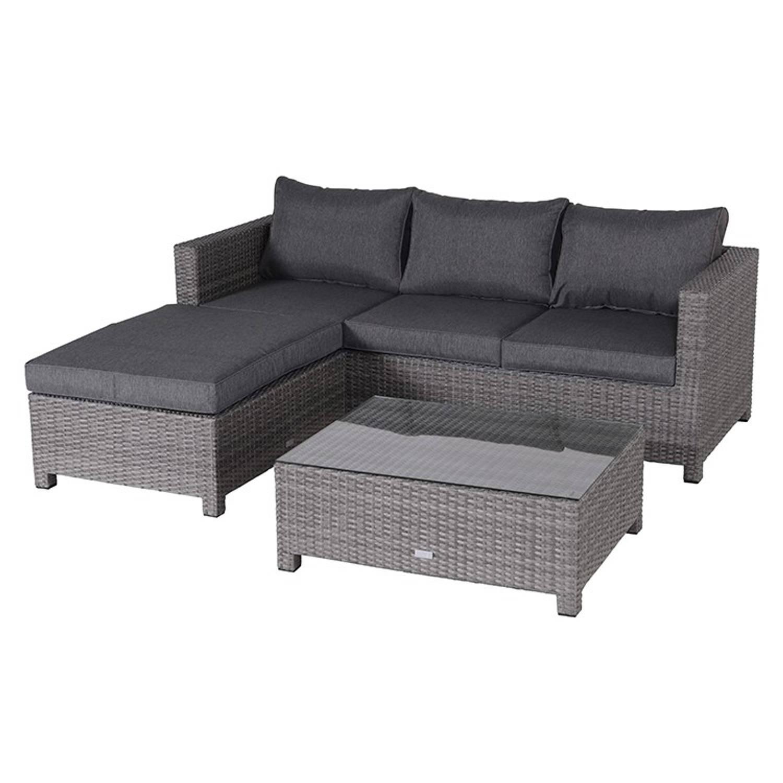 garden impressions isabel loungeset donker grijs blokker. Black Bedroom Furniture Sets. Home Design Ideas