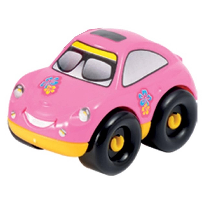 écoiffier Abrick bouwpakket auto roze 6 delig