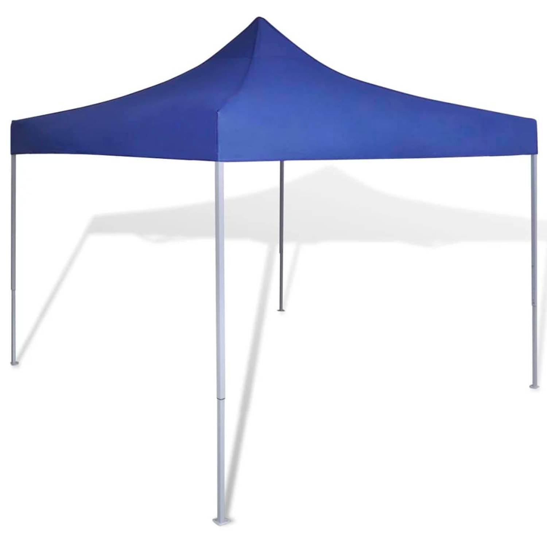 vidaxl partytent inklapbaar 3x3 m blauw