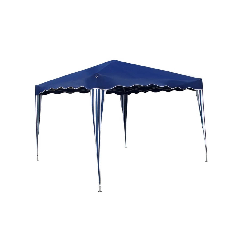 partytent opvouwbaar 3 x 3 m blauw