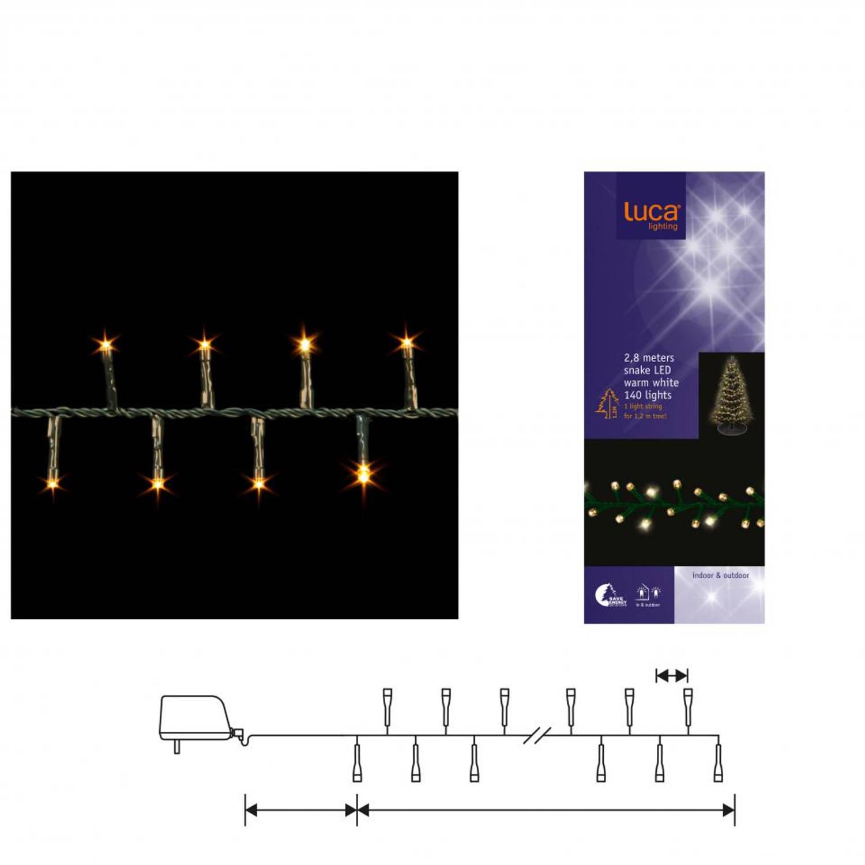 Luca Lighting kerstboomverlichting 140 led - 280cm