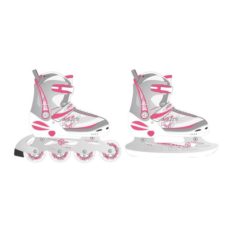 ab10157c836 Nijdam junior skate/schaats combo maat 35-38 - wit | Blokker