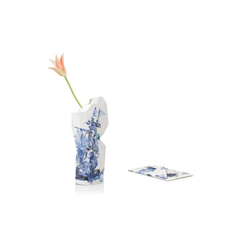 Pepe heykoop papieren vaas cover groot delfts blauw