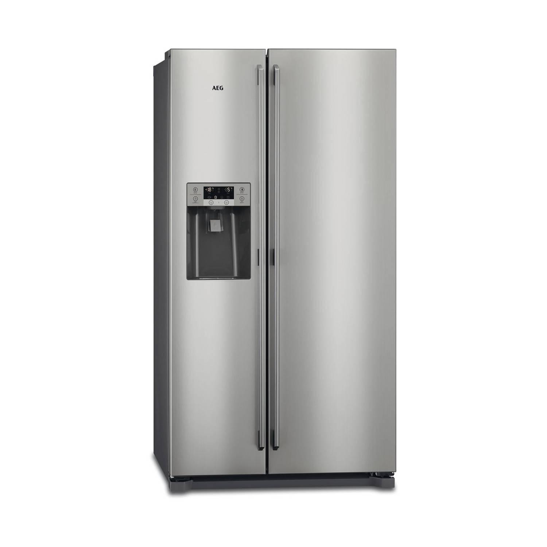 AEG RMB76121NX amerikaanse koelkasten - Roestvrijstaal / grijs