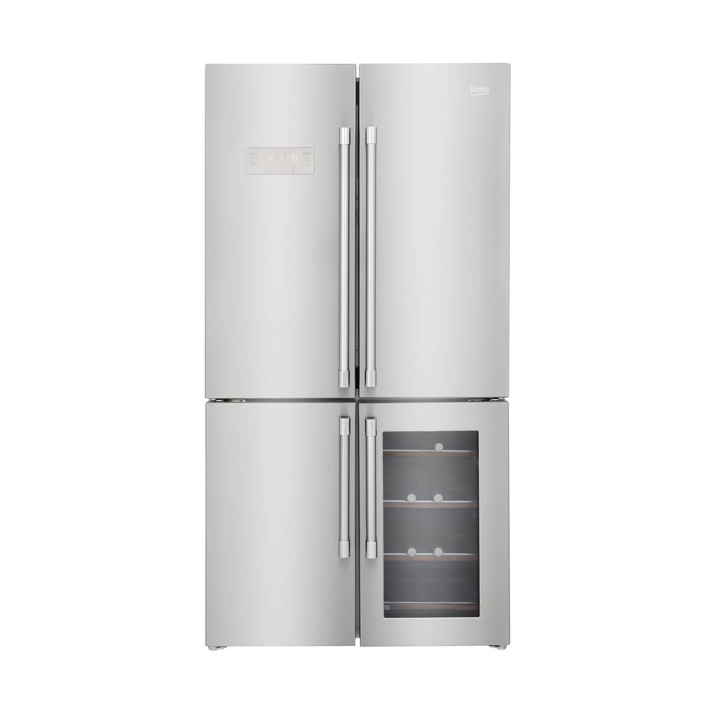 Beko gn1416220cx amerikaanse koelkasten - roestvrijstalen effect