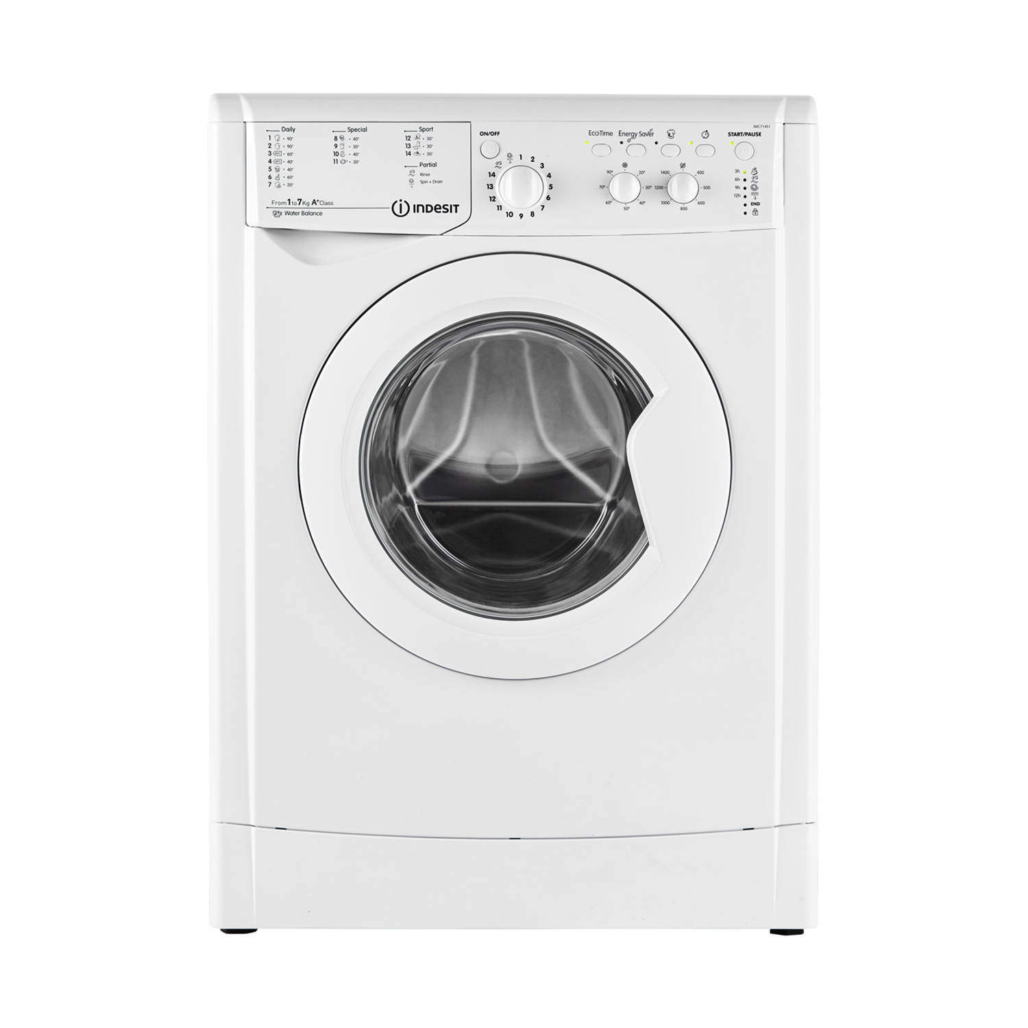 Indesit IWC 71451 ECO(EU) wasmachines - Wit