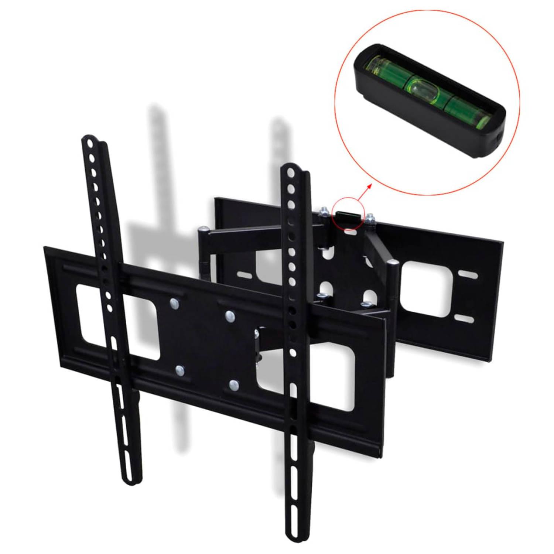 vidaXL TV-beugel met dubbele draaiarm voor aan muur 400x400 mm 32-55
