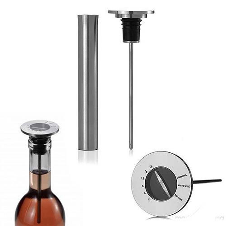Afbeelding van Champ Wijnstop met thermometer RVS - AdHoc