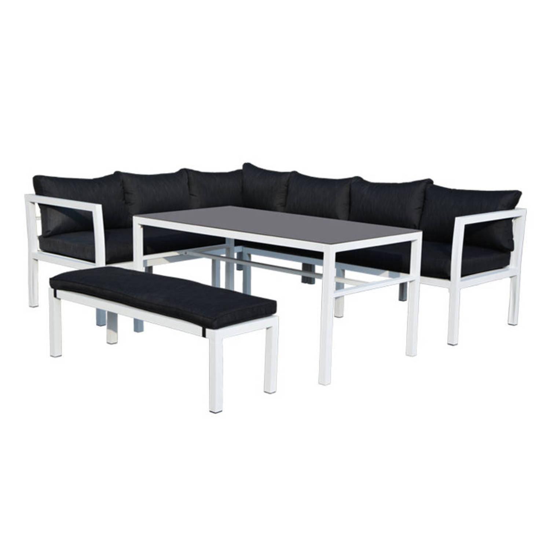 garden impressions blakes lounge dining set donker grijs blokker. Black Bedroom Furniture Sets. Home Design Ideas