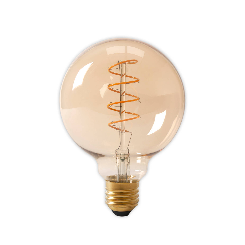 Calex LED Flexfilament Globe G125 4W 200lm E27 Goud 2100K Dimbaar