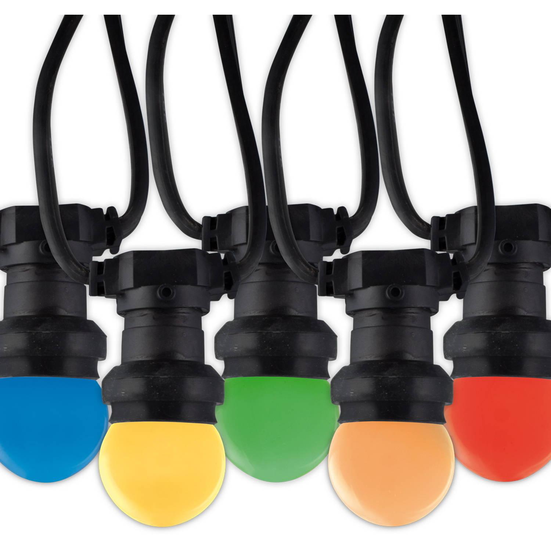 Korting Calex Led Prikkabel 10 Meter E27 1w 10 Lampen 5 Kleuren