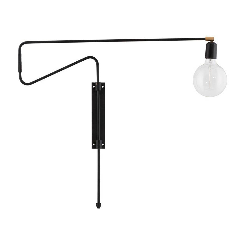 House Doctor Wandlamp swing zwart