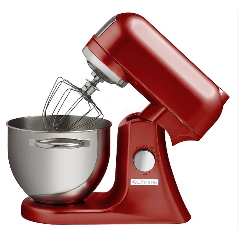 Keukenmachine 4,5 liter wm-606 mxr- rood - wartmann