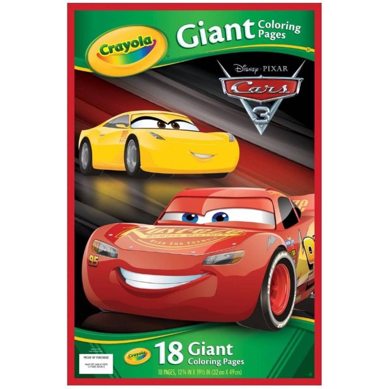 Disney Reuze Kleurplaten Cars 18 Stuks Blokker