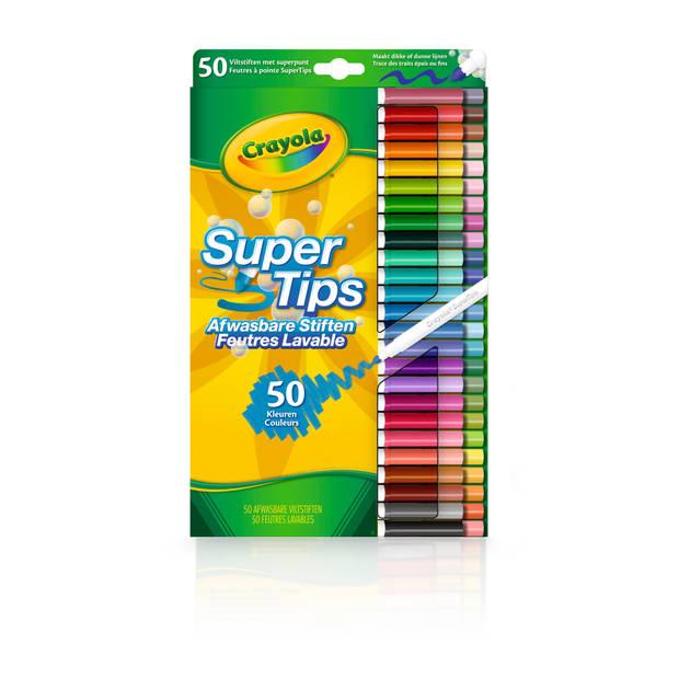 Crayola Supertips - 50 viltstiften met superpunt