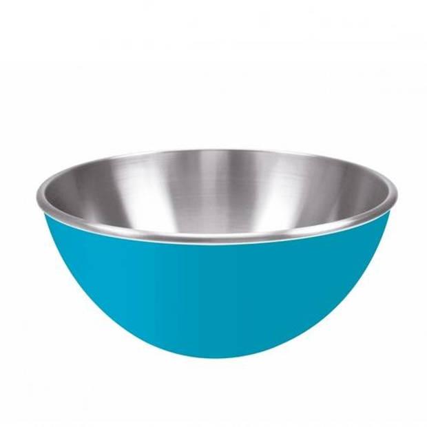 Zak!Designs Gemini Salade schaal Dubbelwandig RVS 25 cm Blauw - Zak! Designs