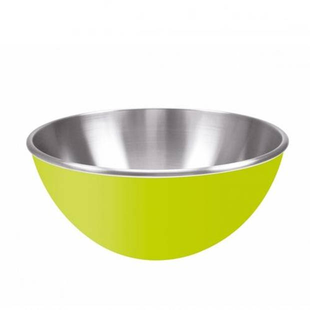 Zak!Designs Gemini Salade schaal Dubbelwandig RVS 25 cm Groen - Zak! Designs