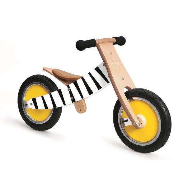 Scratch Loopfiets met 2 wielen Move-It loopfiets Junior Blank/Zwart