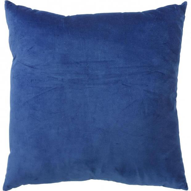 Velvet kussen - blauw