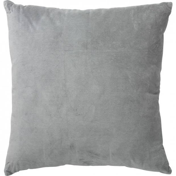 Velvet kussen - grijs