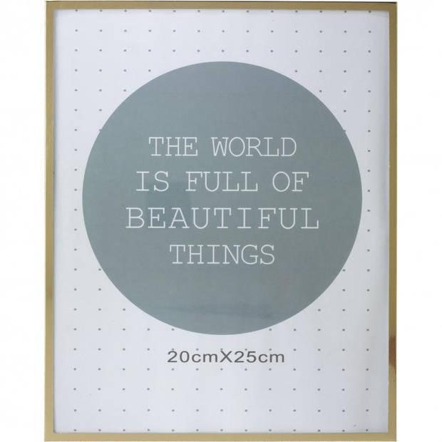 Fotolijst - 20 x 25 cm - goudkleurig
