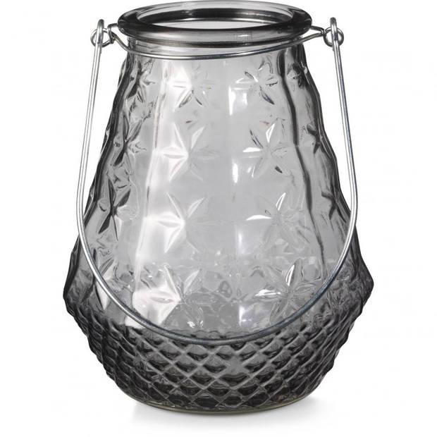 Lantaarn glas - grijs