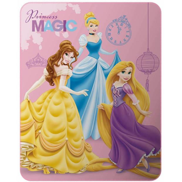 Disney Princess Magic - Fleeceplaid - 110 x 140 cm - Roze