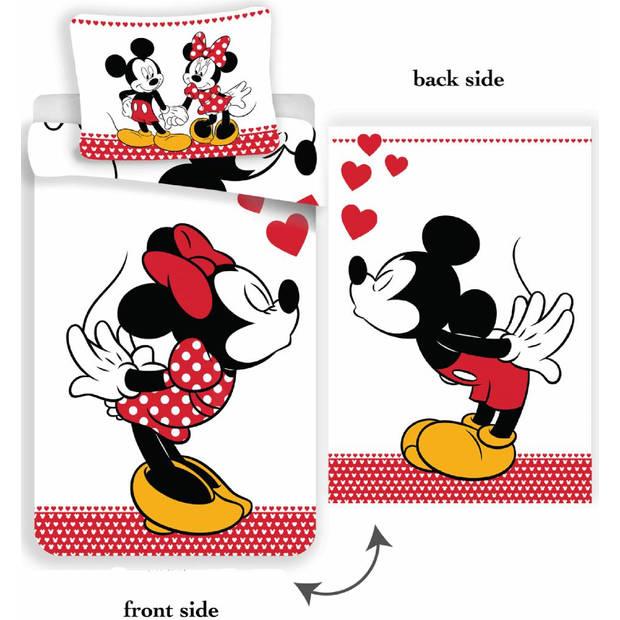 Disney Kissing - Dekbedovertrek - Eenpersoons - 140 x 200 cm - Multi