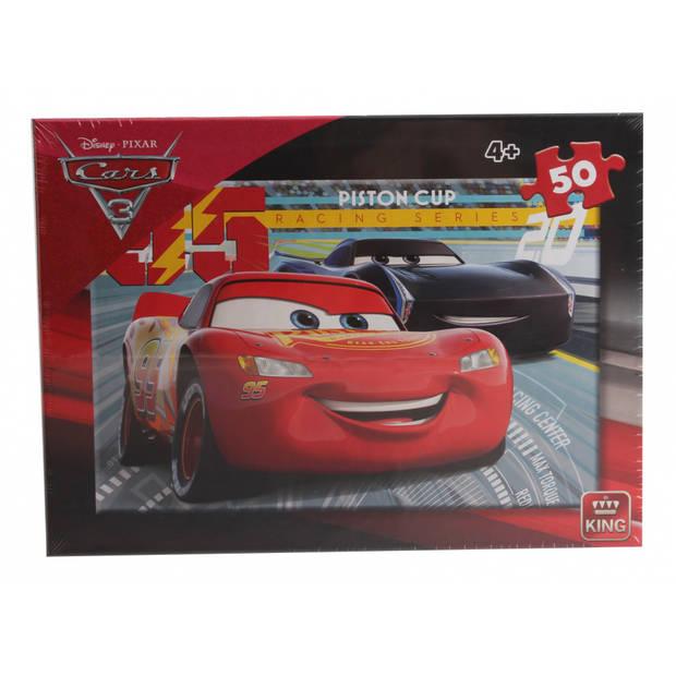 King International legpuzzel Disney Cars Piston Cup rood 50 stukjes