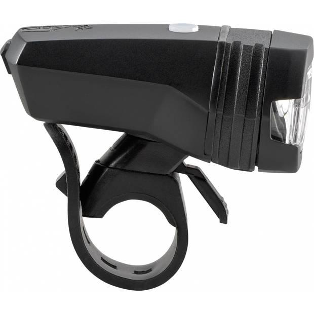 AXA koplamp Greenline 50 lux oplaadbaar led zwart