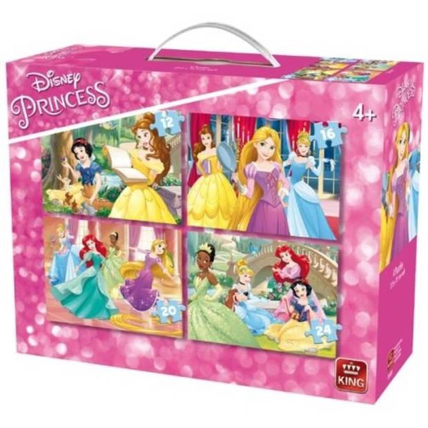 King legpuzzel Disney Princesses 4-in-1 12-24 stukjes