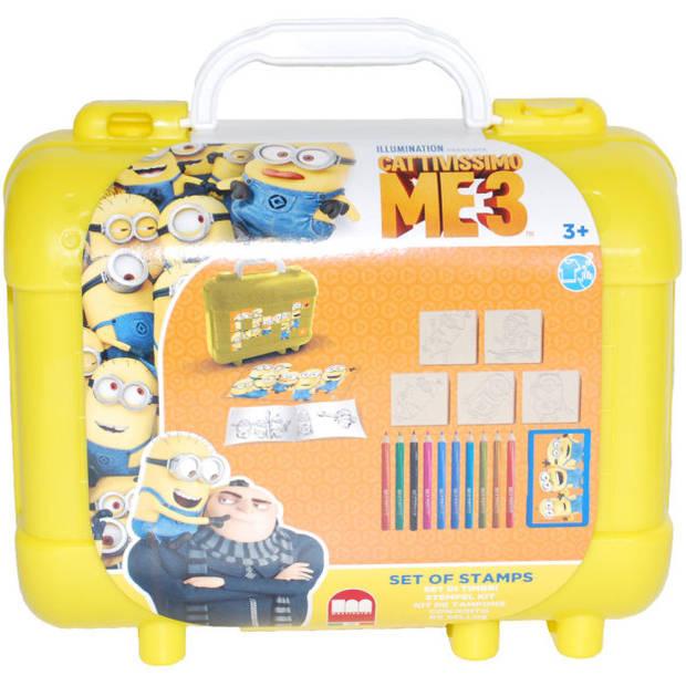 Multiprint travelset met activiteitenboek Minion 23 cm geel