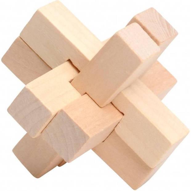 Lifetime Games denkpuzzel Mind Game 7 x 7 x 7 cm blank hout
