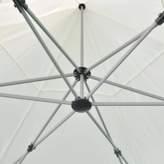 vidaXL Partytent pop-up zeshoekig inklapbaar 3,6x3,1 m crèmewit