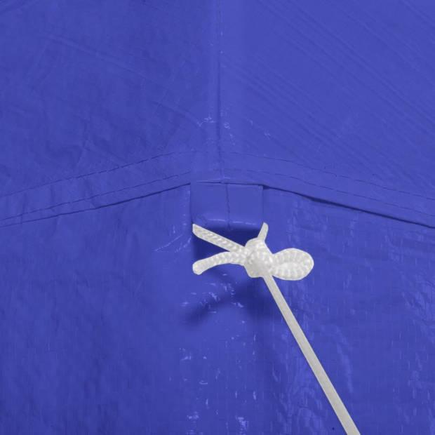 vidaXL Feesttent met 6 zijwanden 2x2 m blauw