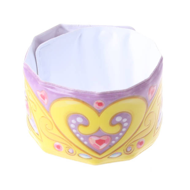Eddy Toys klaparmband hart meisjes paars/geel 22 x 3,5 cm