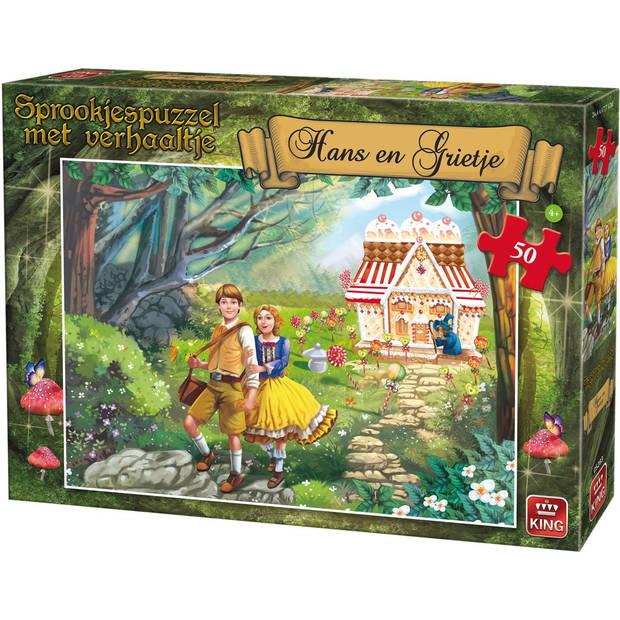 King legpuzzel Hans en Grietje met verhaal 50 stukjes