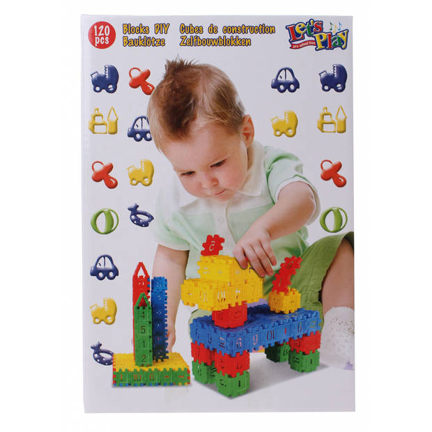 Let's Play bouwblokken hond 120-delig