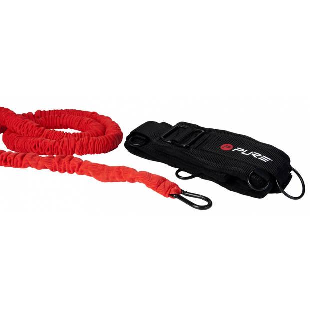 Pure2Improve weerstandskoord 240-480 cm zwart/grijs/rood