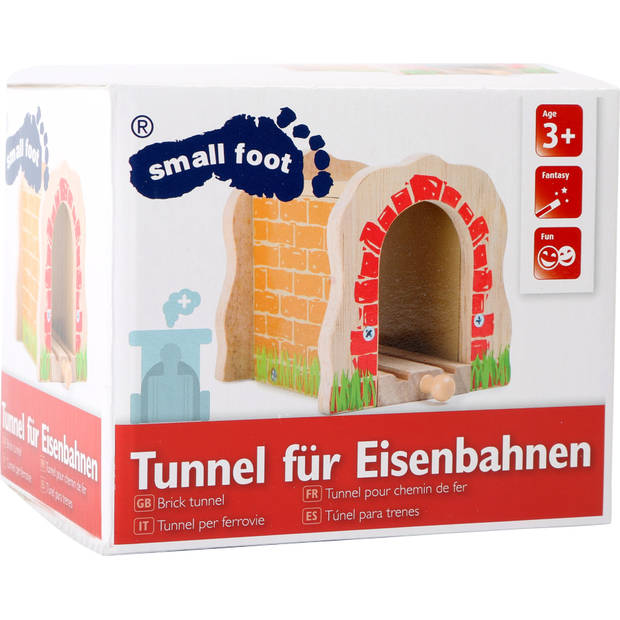 Small Foot Houten Treinrail tunnel TRAINible