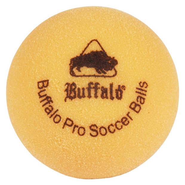 Buffalo pro tafelvoetbal balletjes set van 6 geel