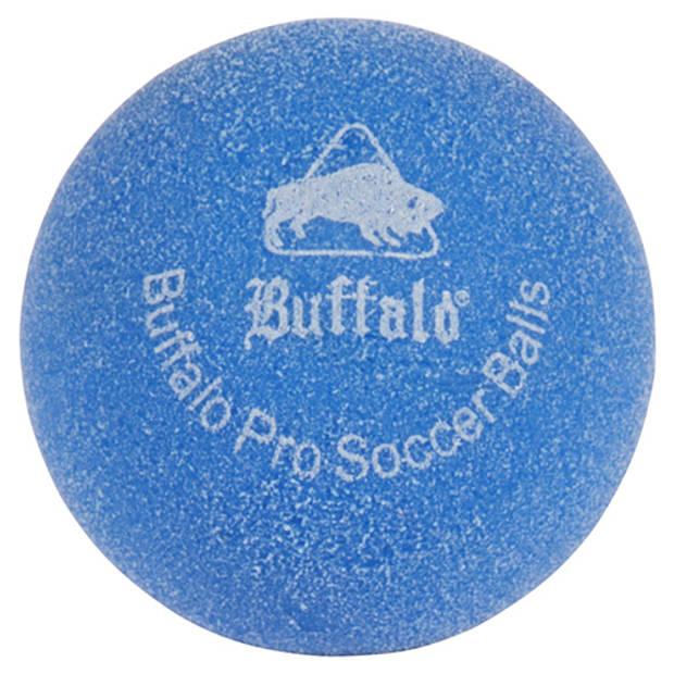 Buffalo pro tafelvoetbal balletjes set van 6 blauw